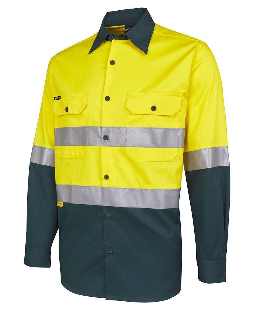 Safety Yellow Shirts >> Hi Vis L/S (D+N) 150G Work Shirt