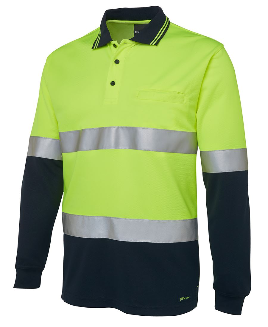 Hi vis l s d n traditional polo for Hi vis polo shirts with pocket