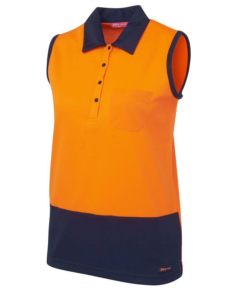 Sleeveless Polo Shirt Womens